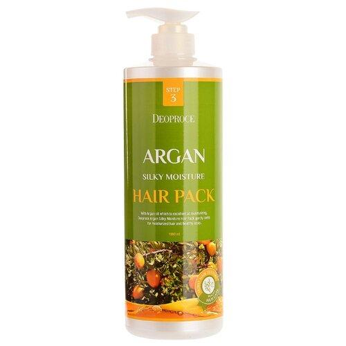 Купить Deoproce Маска с аргановым маслом для волос Argan Silky Moisture Hair Pack, 1000 мл