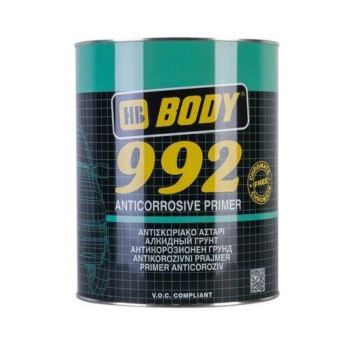 Грунт-праймер HB BODY 992 коричневый 1 л грунт праймер hb body 960 комплект 2 шт светло жёлтый 1 л