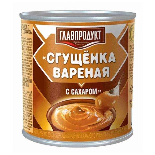 Сгущенка Главпродукт вареная с сахаром 8.5%, 380 г