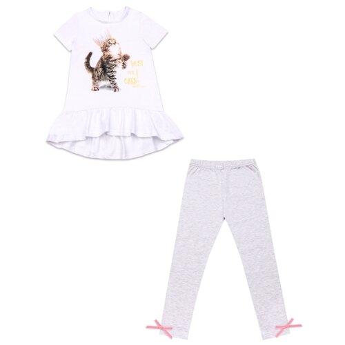 Комплект одежды Апрель размер 98-52, белый/светло-серый
