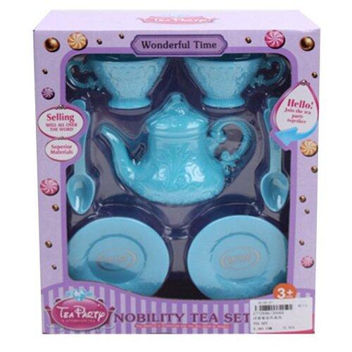 Купить Набор посуды Shantou Gepai Nobility Tea Set J006A голубой, Игрушечная еда и посуда
