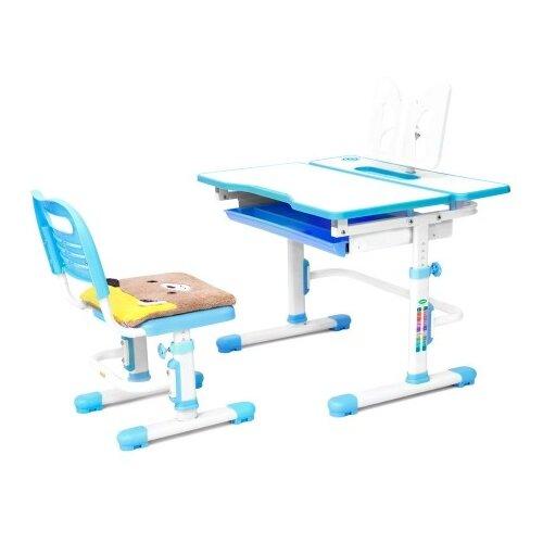 Комплект RIFFORMA стол + стул Comfort-07 80x61 см белый/голубой rifforma 24