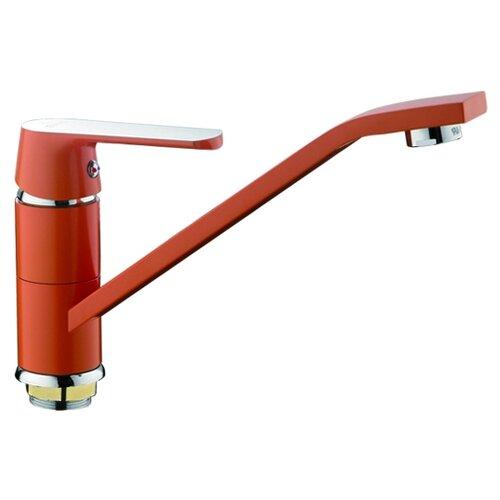 Смеситель для кухни (мойки) Frap H31 F4931/H32 F4932/H33 F4933 однорычажный оранжевый/хром смеситель для кухни frap f4224 хром