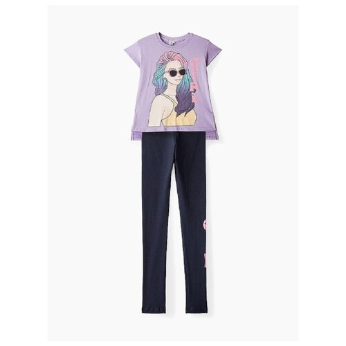 Купить Комплект одежды Elaria размер 134, лиловый/синий, Комплекты и форма