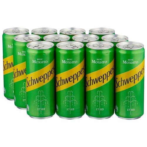 Газированный напиток Schweppes Мохито, 0.33 л, 12 шт.