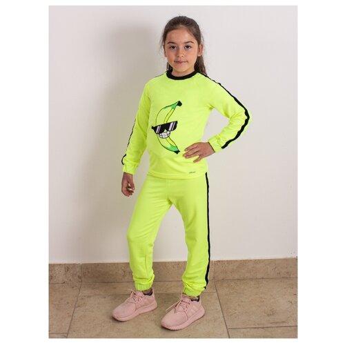 Спортивный костюм Prikinder размер 134, лимонный