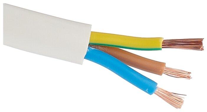Провод ПВС 3х2.5 кв. мм (10 м) Рэмз ГОСТ белый