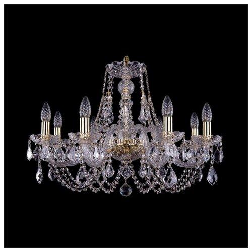 Люстра Bohemia Ivele Crystal 1406 1406/8/240/G/Leafs, E14, 320 Вт