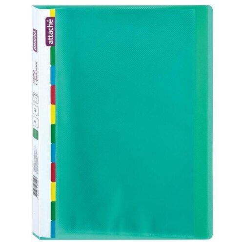 Купить Attache Папка на 20 файлов Diagonal A4, пластик зеленый, Файлы и папки