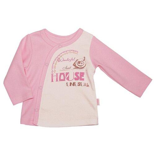 Распашонка СовёнокЯ размер 44-68, розовый распашонка для девочки lucky child цветочки цвет светло розовый 11 7 размер 62 68 2 3 месяца