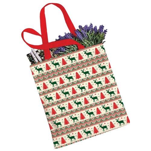 сумка планшет victorinox текстиль красный Сумка JoyArty, текстиль, красный/бежевый/зеленый