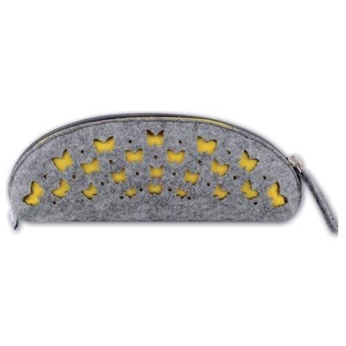 Феникс+ Пенал-косметичка Бабочки (43374/6) серый/желтый феникс пенал косметичка бабочки 46253 фиолетовый