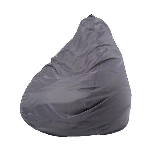 Пуффбери кресло-мешок Груша Оксфорд XXL серый оксфорд