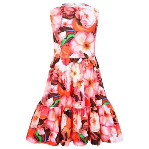 Платье MSGM размер 164, розовый/цветочный принт