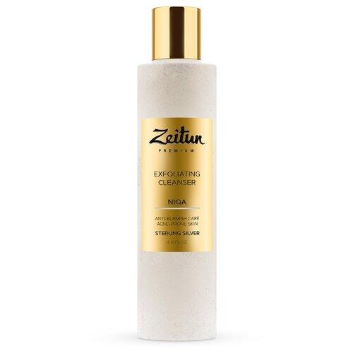 Zeitun Гель-скраб для умывания Niqa глубоко очищающий с серебром, 200 мл гель для ежедневного умывания cleanmat 225 мл premium home work