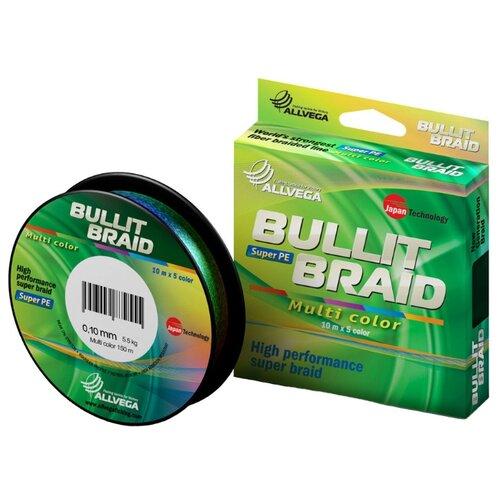 Плетеный шнур ALLVEGA BULLIT BRAID multicolor 0.1 мм 150 м 5.5 кг