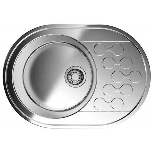 Фото - Врезная кухонная мойка 65 см OMOIKIRI Kasumigaura 65-IN 4993727 нержавеющая сталь врезная кухонная мойка 65 см omoikiri akisame 65 in r нержавеющая сталь