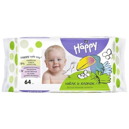 Купить Влажные салфетки Bella Baby happy Silk&Cotton 64 шт.