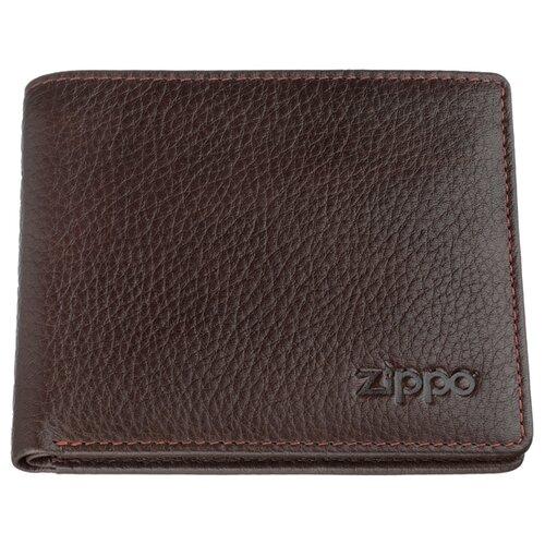 Фото - Портмоне Zippo 2006031, натуральная кожа коричневый портмоне zippo серо чёрный камуфляж натуральная кожа 11 2x2x8 2 см