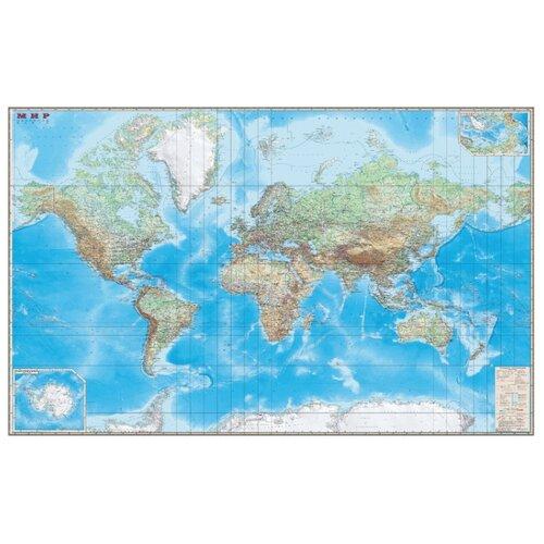DMB Физическая карта Мира с границами 1:15 (4607048952931)
