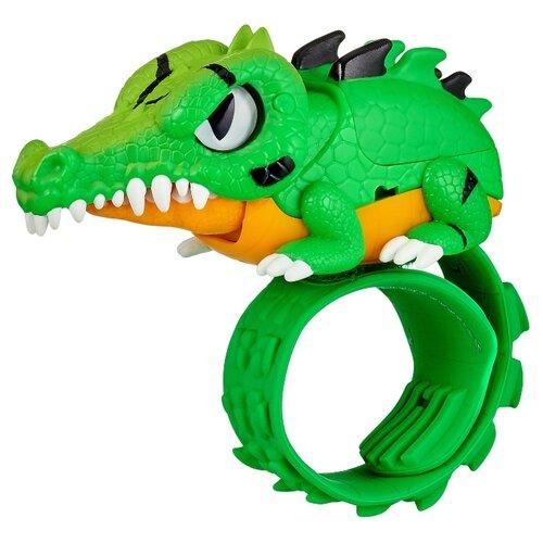 Купить Робот Moose Little Live Pets Рептилия Крокодил 28990 зеленый/оранжевый, Роботы и трансформеры