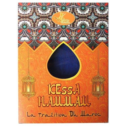 Мочалка We're We Care традиционная Марокканская рукавичка Кесса для пилинга и очищения кожи, средней жесткости синий
