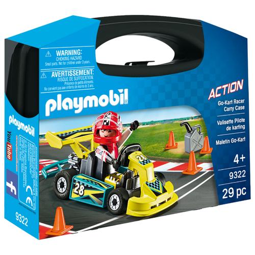 Купить Набор с элементами конструктора Playmobil Action 9322 Возьми с собой: Картинг, Конструкторы