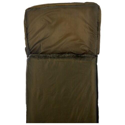 Спальный мешок Спортивные Мастерские Одеяло с капюшоном +10°С/+20°С хаки