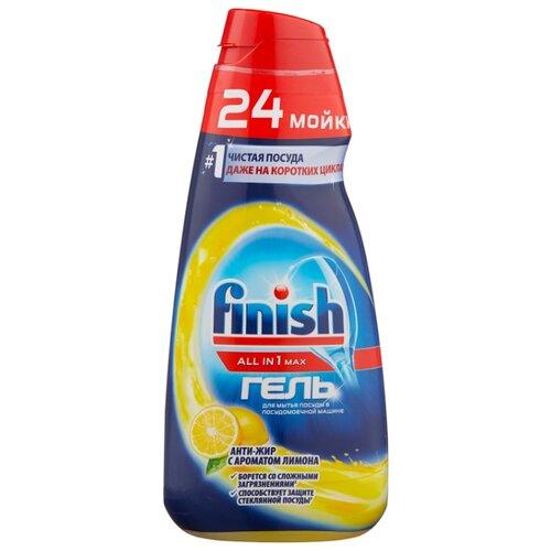 Finish All in 1 гель антижир (лимон) для посудомоечной машины 0.6 л