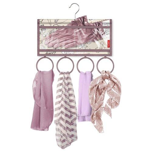 Valiant Органайзер подвесной для шарфов и аксессуаров Romantic RM-R4P4 бежевый/фиолетовый