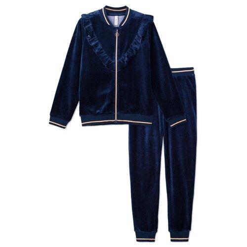Комплект одежды playToday размер 104, темно-синий