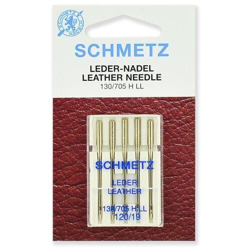 Игла/иглы Schmetz Leather 130/705 H LL 120/19 серебристый