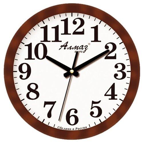 Часы настенные кварцевые Алмаз B22 коричневый/белый часы настенные кварцевые алмаз c51 c54 коричневый белый