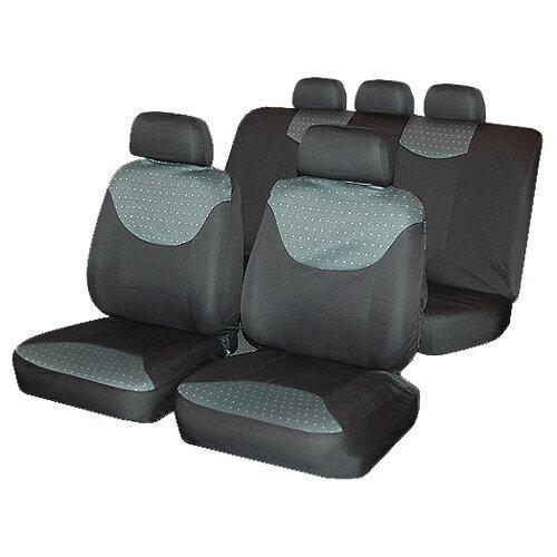 Комплект чехлов autostandart BERGAMO серый/черный