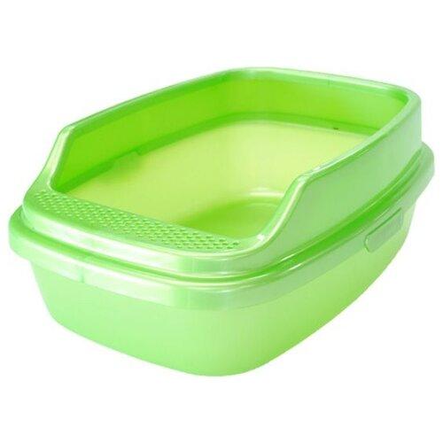 Туалет-лоток для кошек Homecat De Luxe 53х39х23 см зеленый перламутр