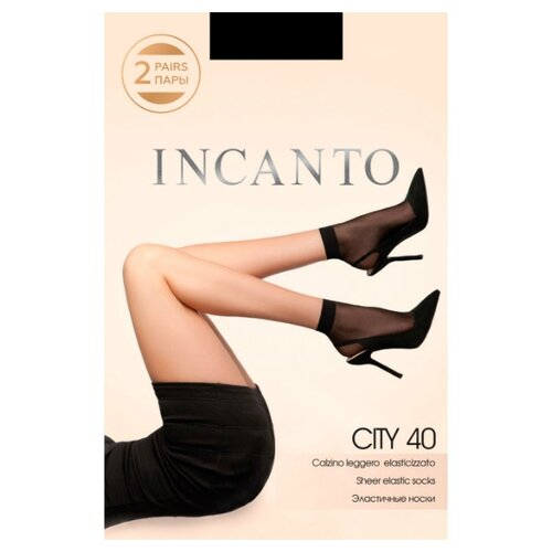Капроновые носки Incanto City 40, 2 пары, размер UNI, nero