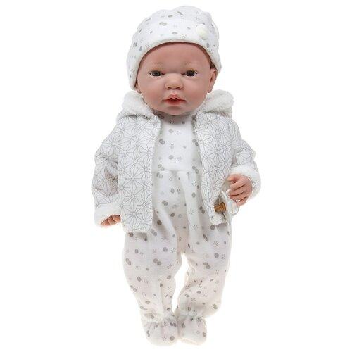 Интерактивный пупс Arias Elegance в одежде в серых тонах с узором, 38 см, Т16350 интерактивный пупс arias elegance в голубой одежде 45 см т11134