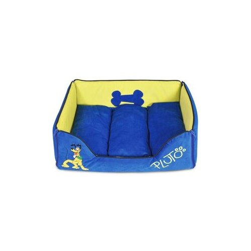 Лежак для собак и кошек Triol Pluto-1 48х38х15 см синий/желтый