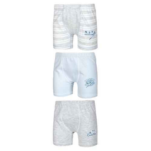Купить Трусы BAYKAR 3 шт., размер 158/164, серый/голубой, Белье и пляжная мода