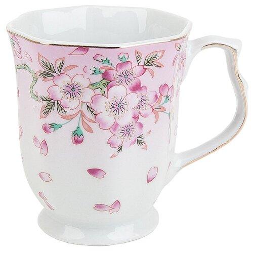 Best Home Porcelain Кружка Яблоневый цвет 350 мл белый/розовый