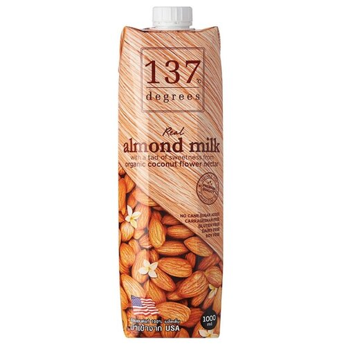 Миндальный напиток 137 Degrees Almond Milk with coconut flower nectar 1 л