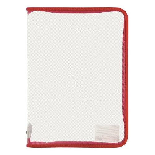 Купить Пифагор Папка для тетрадей А4, на молнии, прозрачная красный, Файлы и папки