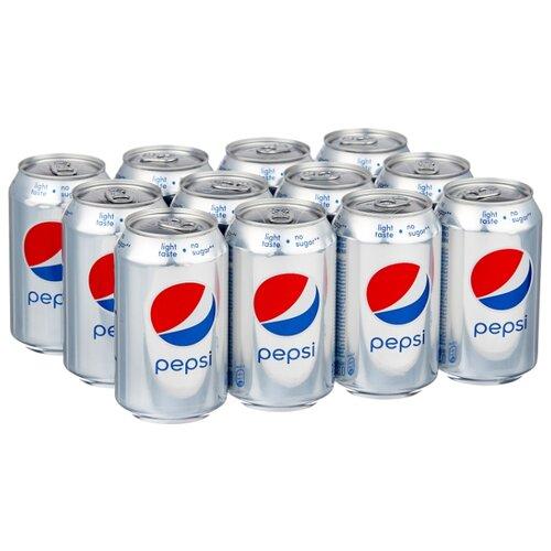 Газированный напиток Pepsi Light, 0.33 л, 12 шт.