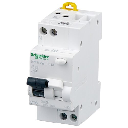Дифференциальный автомат Schneider Electric DPN N VIGI 2П 30 мА C 16 А автомат schneider electric a9f79120