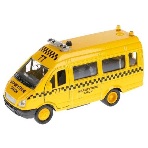 Купить Микроавтобус ТЕХНОПАРК Газель такси (CT10-109-7) 13 см желтый, Машинки и техника
