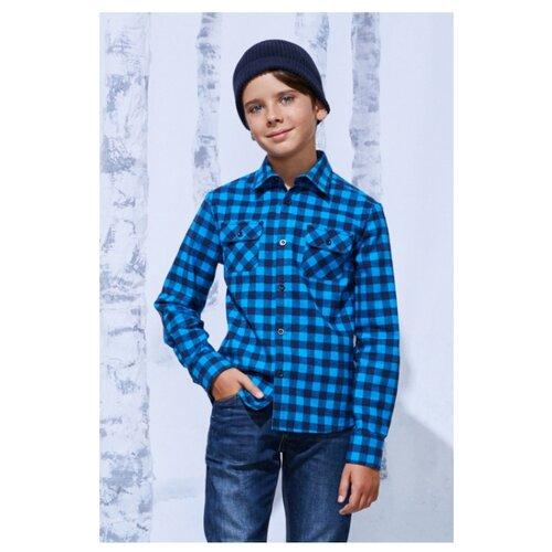 Купить Рубашка Смена размер 122/60, синий, Рубашки