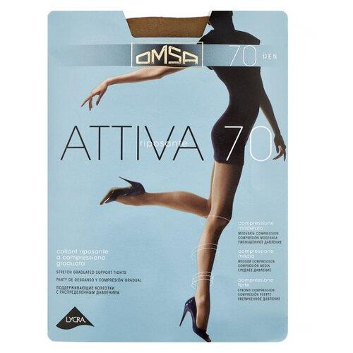 Фото - Колготки Omsa Attiva 70 den, размер 5-MAXI, daino (коричневый) колготки omsa attiva с поддерживающими шортиками 70 den daino р 5