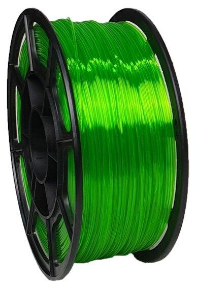 PETG пруток НИТ 1.75 мм зелено-прозрачный флуоресцентный