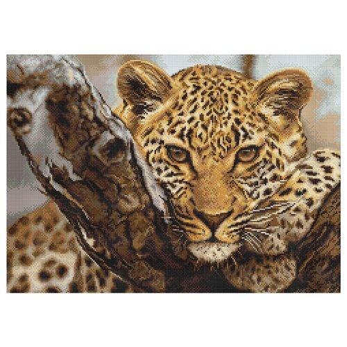 Купить Luca-S Набор для вышивания Леопард, 40 х 28.5 см, B0525 (B525), Наборы для вышивания