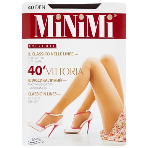 Колготки MiNiMi Vittoria 40 den, размер 1/2-S, fumo (серый) колготки minimi lanacotone 180 den размер 2 s m fumo серый